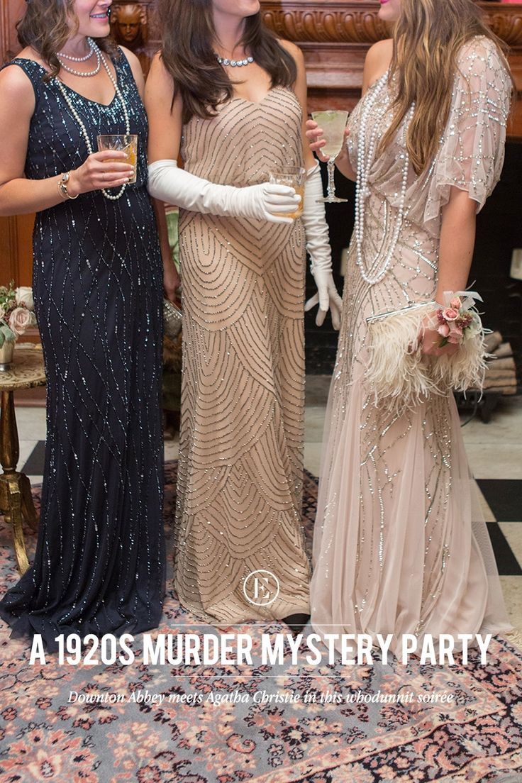 How to Throw a Glam 1920s Murder Mystery Party! #costumes #halloween #flapper