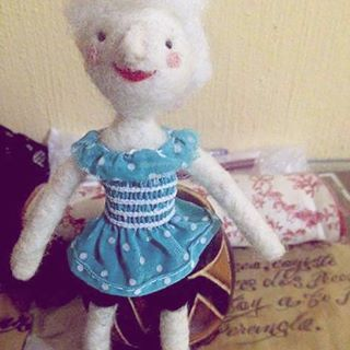 Old #handmade #needlefelted #doll that I made and sold already #craft #ellacanella #canellacrafts
