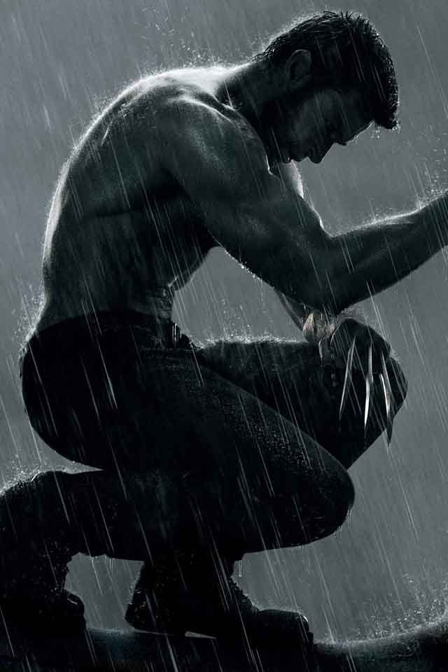 Wolverine: True he's not a real man but I like grumpy men too.  Especially those that can growl.