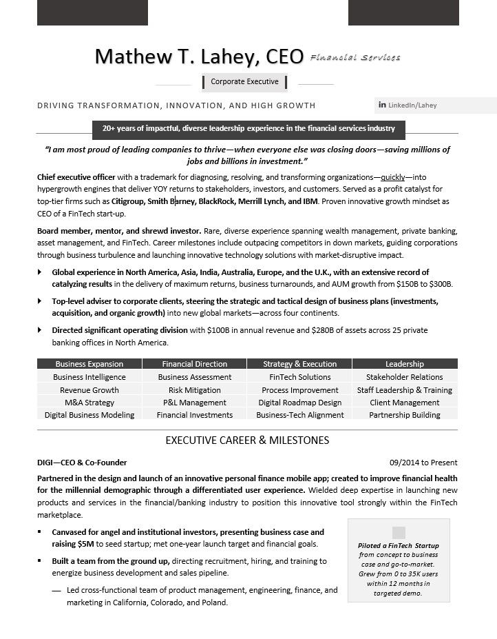 Master Level Resume Writing Examples By Rosa Elizabeth Vargas Resume Writing Examples Resume Templates Executive Resume Template