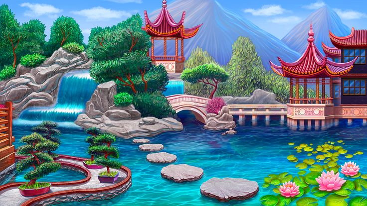 """Graphic design of background for the game slot machine """"Fortune keepers"""" http://artforgame.com/"""
