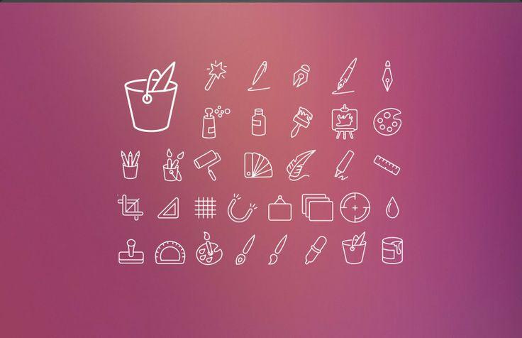 Designer Resource: Swanky Outlines Icon Set