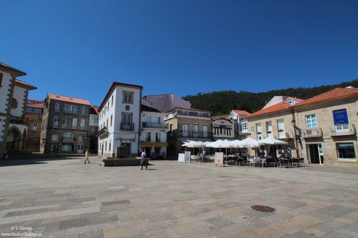 PLAZA MAYOR DE MUROS, A Coruña, Galicia, España