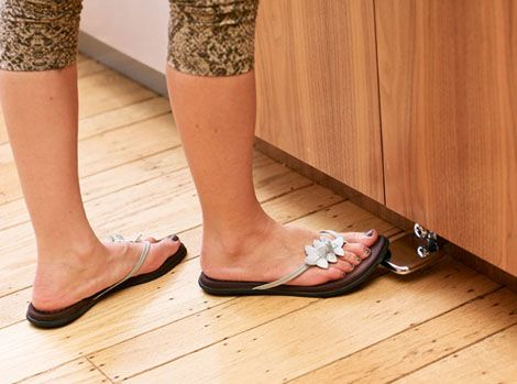 Foot Pedals To Control The Water Flow At The Kitchen