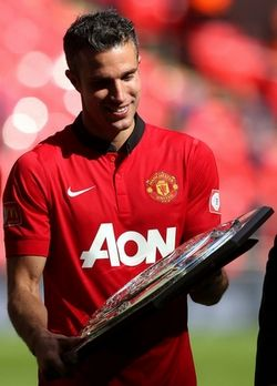 Robin van Persie with the Community Shield