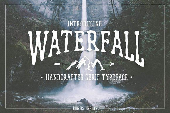 Waterfall. Handcrafted Font (+bonus) by Cosmic Store on @creativemarket