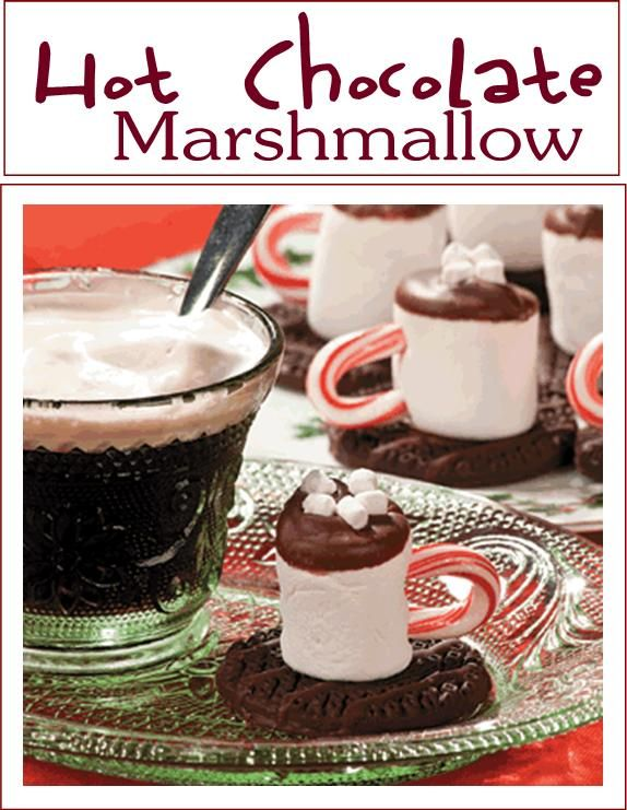 It's a hot chocolate mug made out of a marshmallow-See this and other Christmas appetizers for your Christmas party!