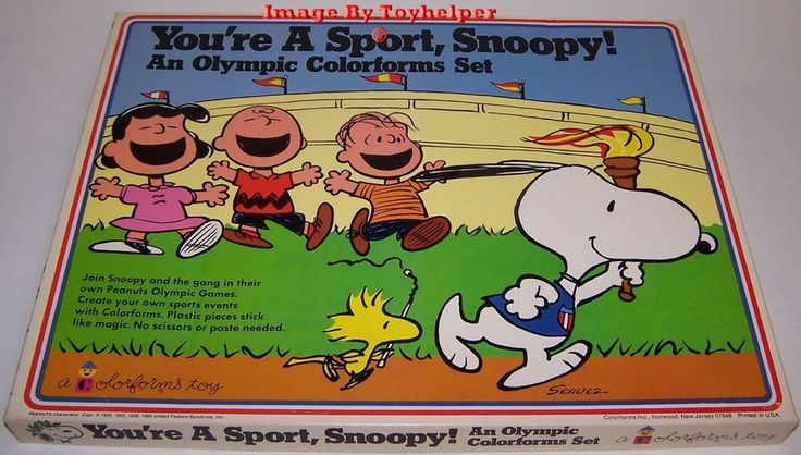 Your'e A Sport Snoopy! An Olympic Colorforms Adventure Play Set Unused Vintage #Colorforms