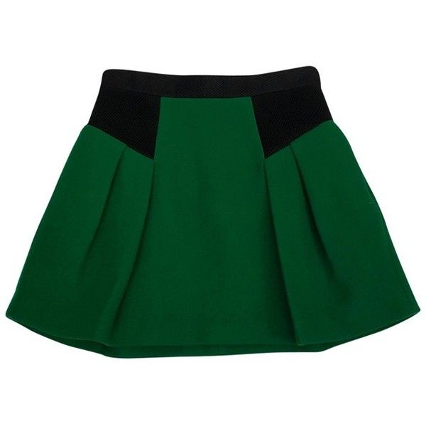 Pre-owned Milly Green Flared Skirt ($59) ❤ liked on Polyvore featuring skirts, green, long mesh skirt, mesh skater skirt, skater skirts, long skater skirt and circle skirts