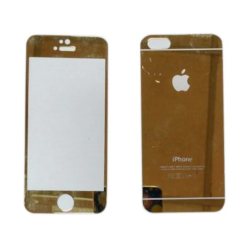 Iphone 5G Mobile Golden Front & Back Protector