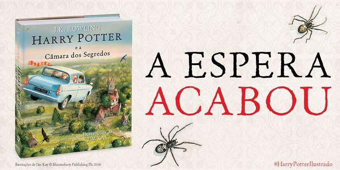 Já saiu a nova Edição Ilustrada: Harry Potter e A Câmara dos Segredos!