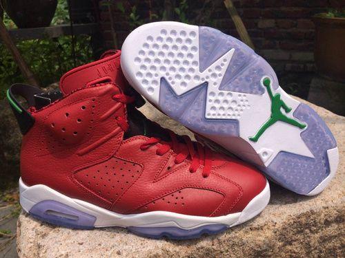 Nike Air Jordan AJ6 Retro Jordan 6 Basketball Shoes Men And Women Shoes True Mark Christmas only US$98.00 - follow me to pick up couopons.