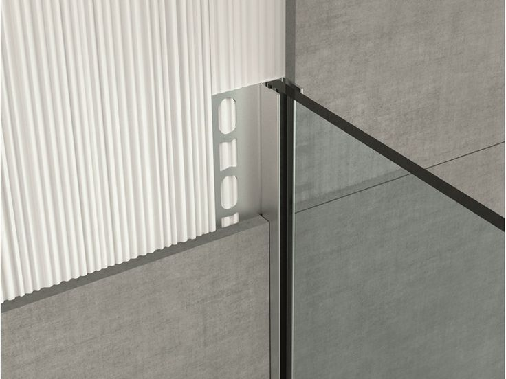 Stainless steel edge profile for floors GLASS PROFILE GPS2 Glass profile Collection by PROFILPAS