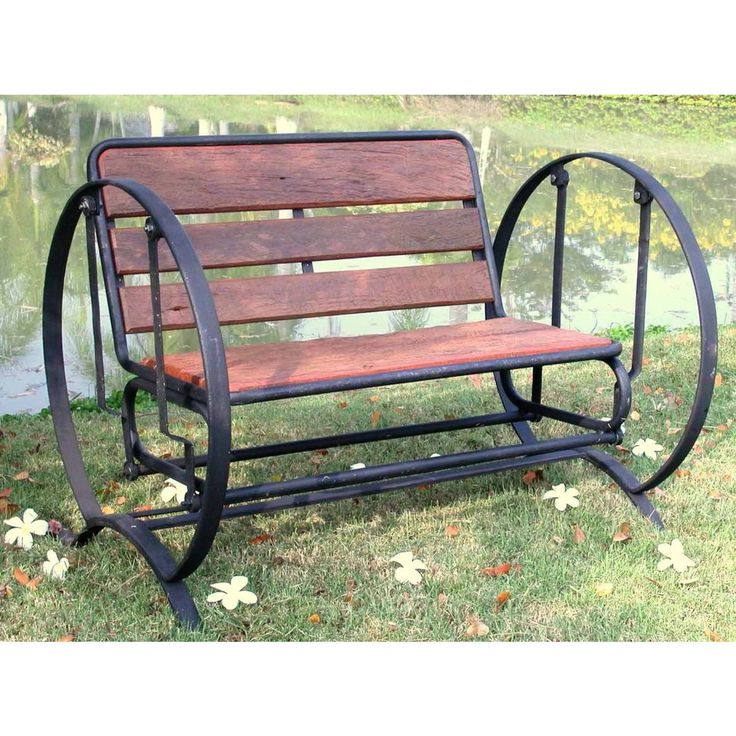 Groovystuff TF 0331 Iron Horse Glider Bench (Iron Horse Glider Bench), Brown