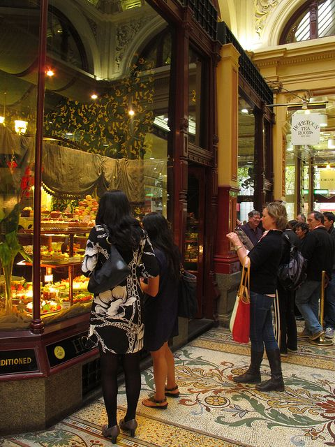 Hopetoun Tea Rooms, Melbourne Australia makes your mouth water just window shopping here.