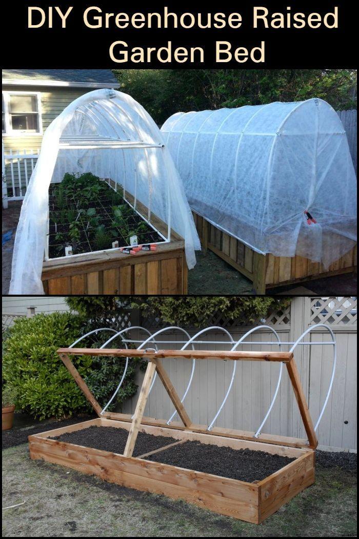 DIY Greenhouse Raised Garden Bed Raised garden beds