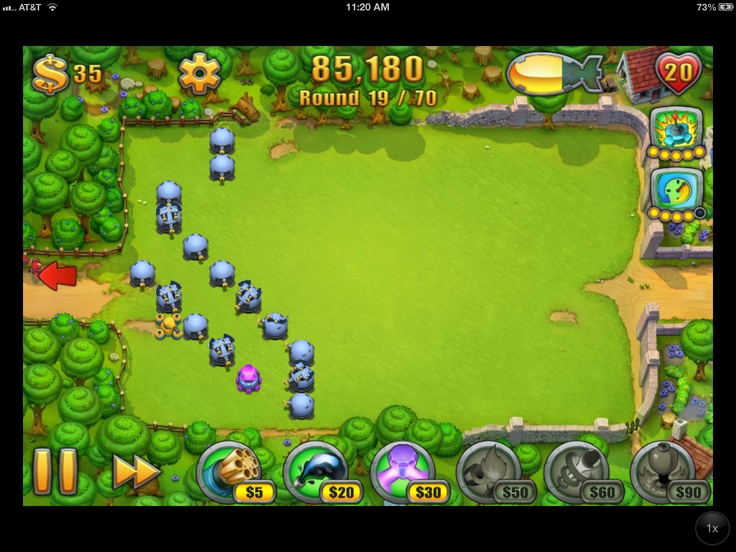 The UI (and the UX for that matter) is excellant for this game. Very easy to understand and interact with the activities of this great tower defense game.