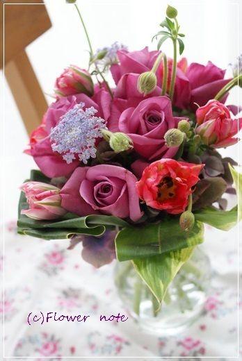 【今日の贈花】お誕生日のお花は特別なカラーで♪ http://ameblo.jp/flower-note/entry-11781786985.html