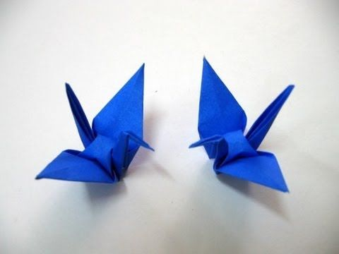 Origami: Crane [tutorial] easy simple step by step – YouTube