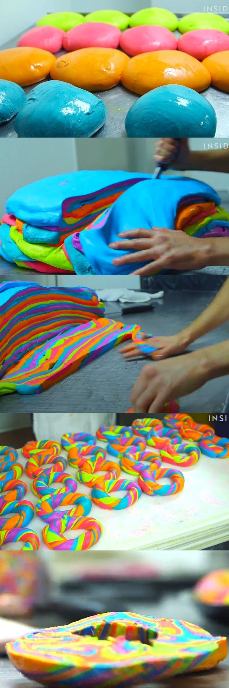 The rainbow bagel from Brooklyn's Bagel Store is the most colorful and wonderful thing we have ever seen. This would be the best breakfast ever!