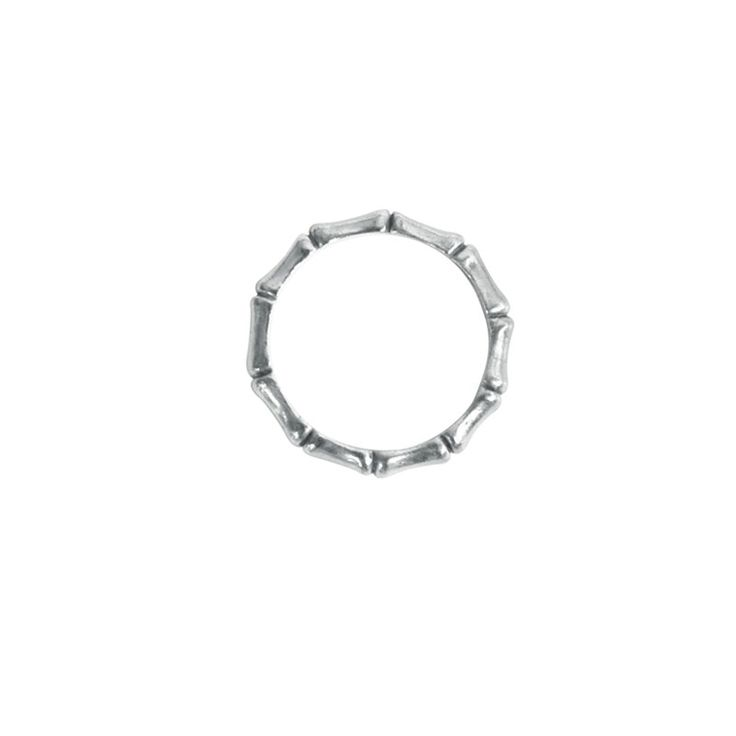 Bamboo Ring in Sterling Silver. 70s style inspried. Shop the full collection at www.murkani.com.au
