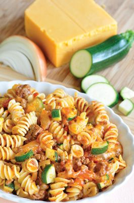 Cheesy Beef Pasta, great way to add in veggies to a meal, easy to make, tastes great!