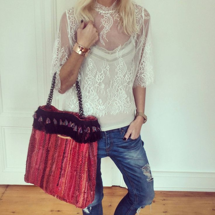 //Blouse Ganni from Rock n Romance//Top Filippa K//Bag Kooreloo//Beacelet The Punch List//Jeans Tally Weijl//