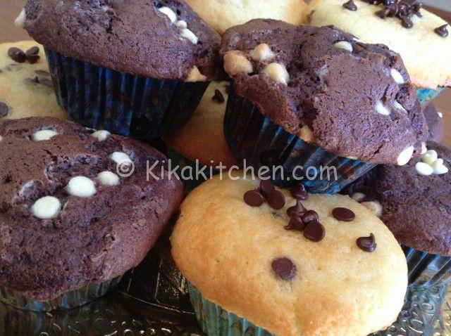 Muffin con gocce di cioccolato | Kikakitchen