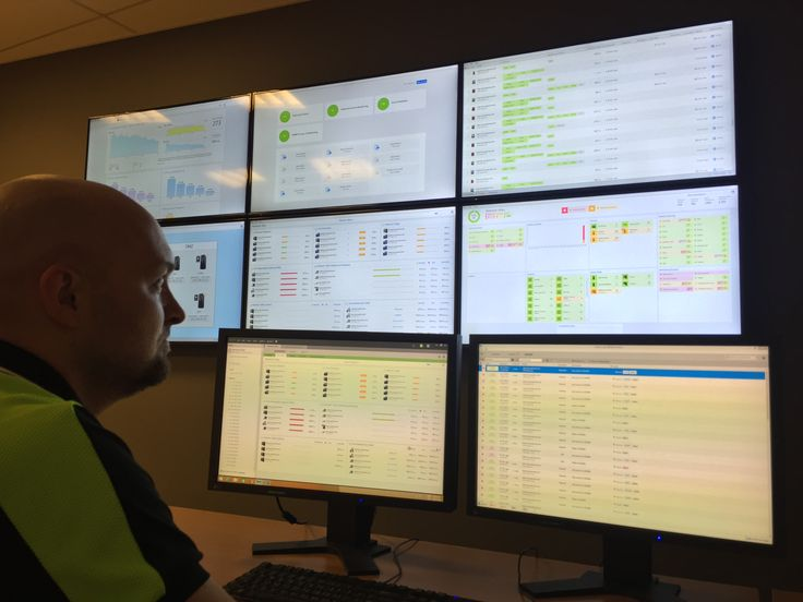 The NetCrunch network monitoring system is optimized for multi-screen, #NOC room settings. Here we have an 8-screen set-up displaying some of the various real-time, dockable and automatically rotatable views available in NetCrunch. http://www.adremsoft.com/