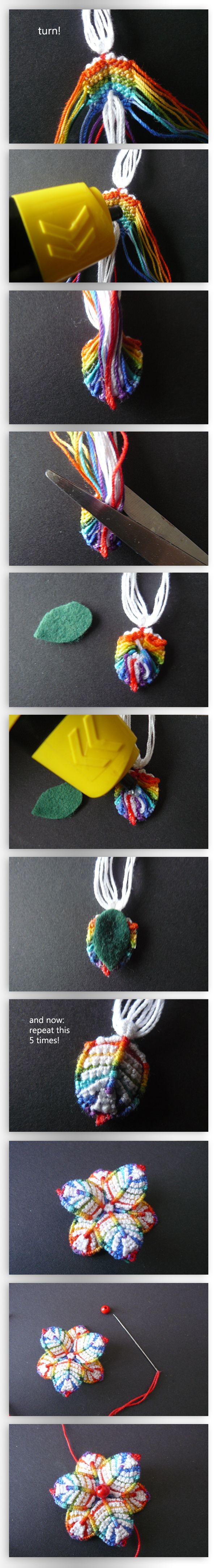 Macramee Flower Tutorial V by nimuae.deviantart.com on @deviantART