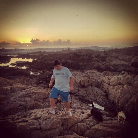 Exploring the rocks and pools a #sunset
