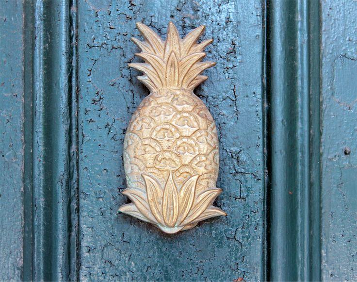 Pineapple door knocker exterior door knockers pinterest newport door knockers and knock - Pineapple door knocker ...