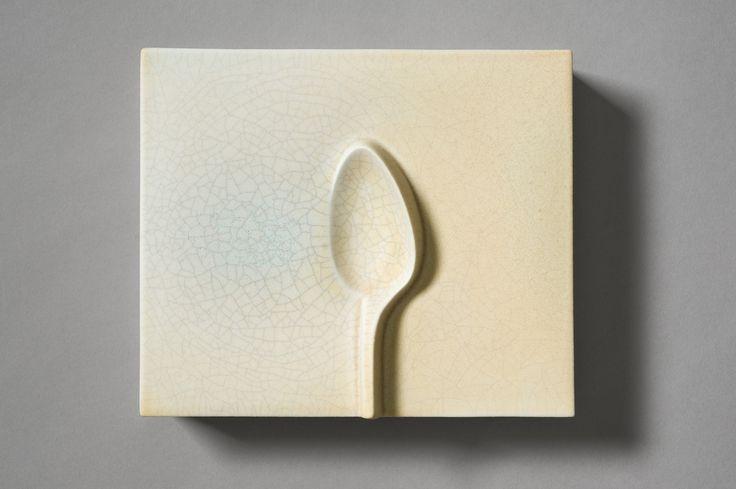Kirsi Kivivirta. Valettu kivitavarasavi, casted stoneware. Spoon Box 20 x 17 x 6 cm. Art Helsinki, osasto 5k10.