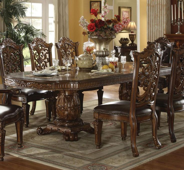 Cleopatra Ornate Traditional Cherry Formal Dining Room: 12 Best Images About Dinning Set's. On Pinterest