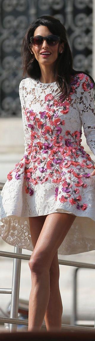 Amal Alamuddin In Giambattista Valli Couture – Wedding Weekend
