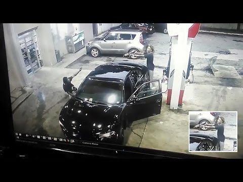 Wanted - Atlanta Gas Station Shootout - Caught on Camera!