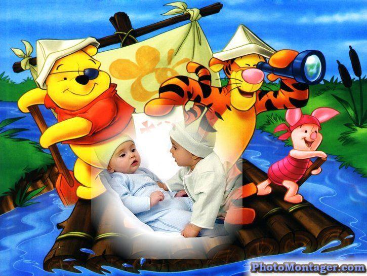 Fotomontaje de winnie pooh y sus amigos