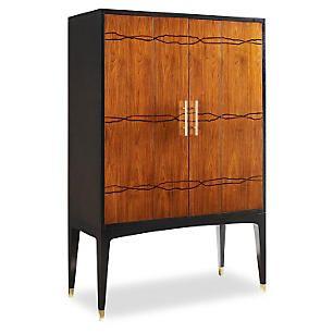 Hamilton Bar Cabinet, Ebony/Cognac