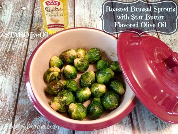Roasted Brussel Sprouts with Star Butter Flavored Olive Oil shop STAROliveOil cbias Oatmeal Raisin Cookies with Star Butter Flavored Olive O...