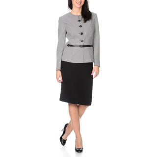 Danillo Women's 2-piece Skirt Suit with Printed Jacket and Waist Belt Closure | Overstock.com Shopping - The Best Deals on Skirt Suits