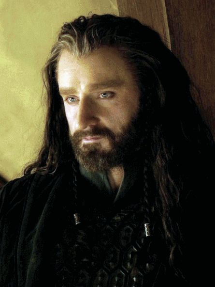 Ok, I'm not going to lie, I kind of have a massive crush on Thorin Oakensheild.  And I never thought I'd be a swooning fangirl. (The movie version, mind you. In the book he's even more arrogant and kind of jerk-ish, plus no lovely face.)
