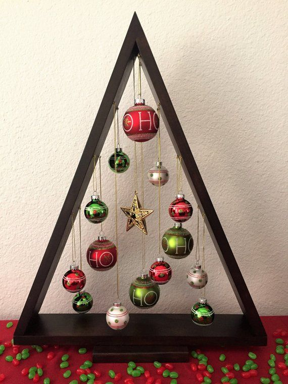 Wooden Christmas Tree, Ornament Christmas Tree, Christmas Center Piece, Christmas Ornament Tree, Christmas Decoration
