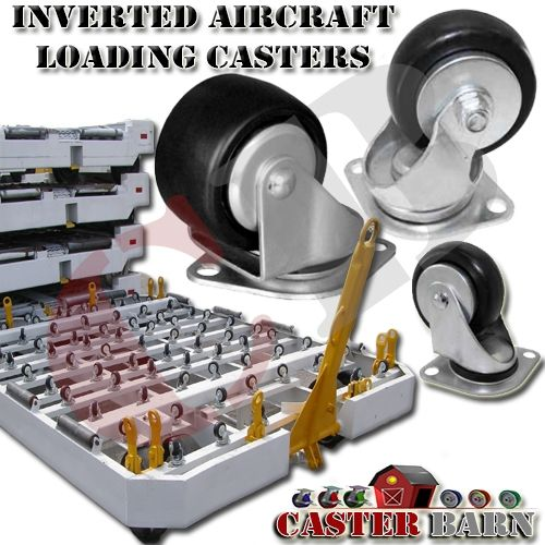 Inverted Aircraft Loading Caster #Aerospace #Casters #Wheels #Dolly #CargoDolly
