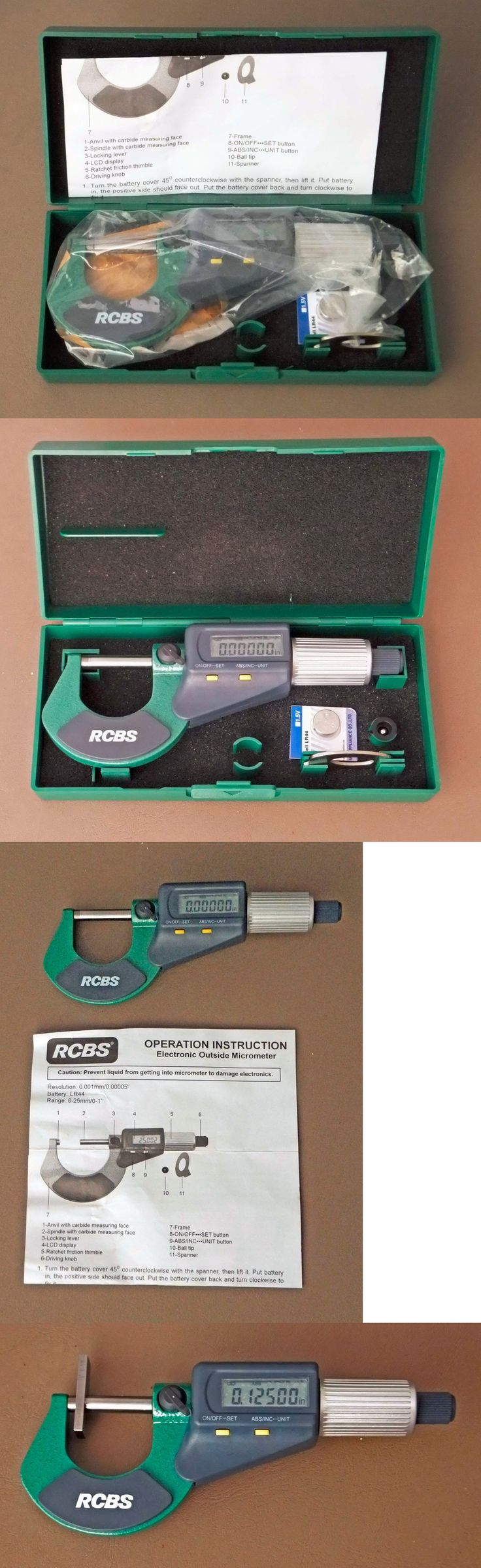 Other Hunting Reloading Equip 7308: Rcbs Electronic Digital Micrometer 0-1 Outside #87320 New -> BUY IT NOW ONLY: $59 on eBay!
