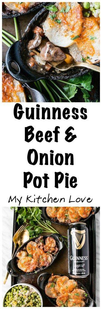 Guinness Beef & Onion Pot Pie  