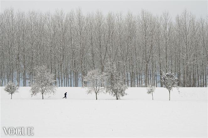 PhotoVogue, snowfall, corsa nel ghiaccio, winter, snow, landscape