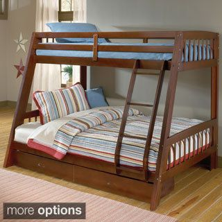 Ugly but practical Vidin Twin Over Full Bunk Bed with 2 Drawers - Overstock Shopping - Great Deals on Beds