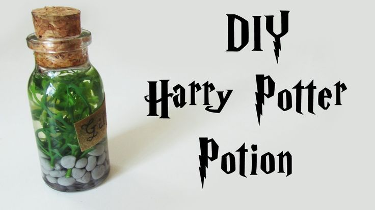 DIY: Poções do Harry Potter: Gillyweed Potion Tutorial - Erva Guelricho (Bottle Charm)