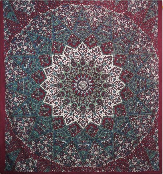 Hey, I found this really awesome Etsy listing at https://www.etsy.com/listing/217925004/maroon-mandala-tapestry-indian-hippie