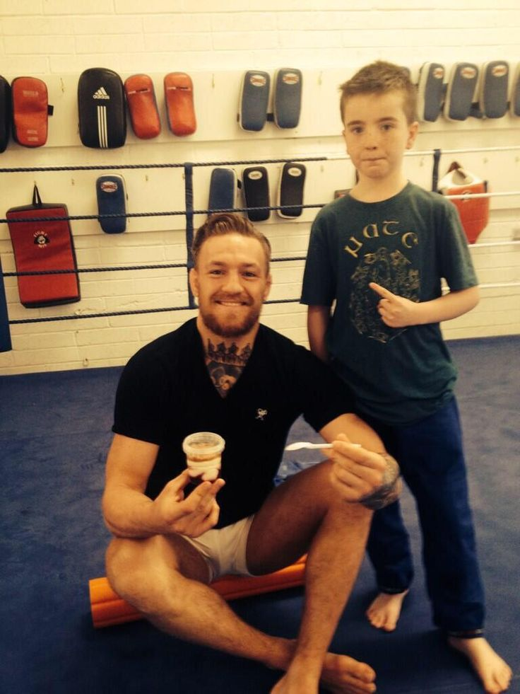 future Irish champion (in about 10 years) with his idol Conor McGregor : if you love #MMA, you will love the #MixedMartialArts and #UFC inspired gear at CageCult: http://cagecult.com/mma